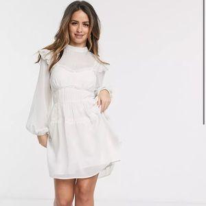 ASOS Lace Insert Mini Skater Dress. US size 6.